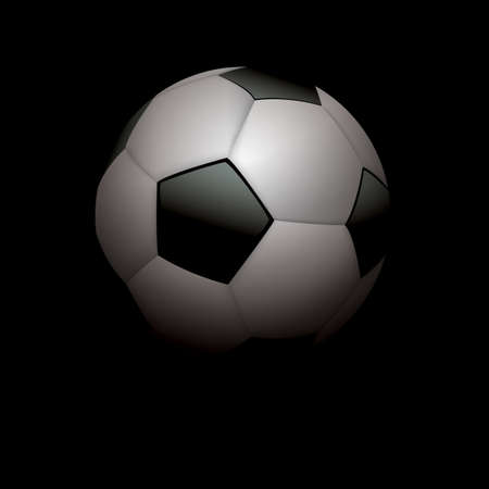shadowed: A realistic soccer ball - football illustration on black shadowed background.