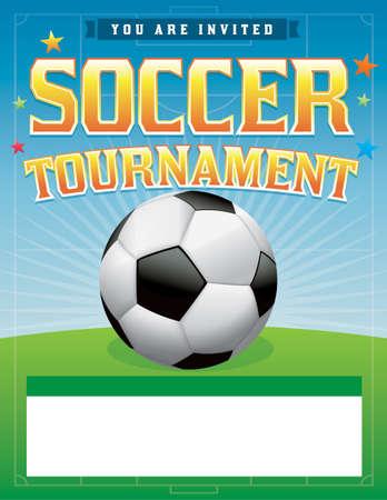 A soccer tournament illustration.  Illustration