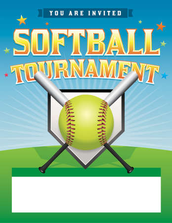 tournament: An illustration of a softball tournament.