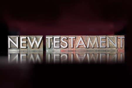 ビンテージ凸版タイプで書かれた新約聖書単語