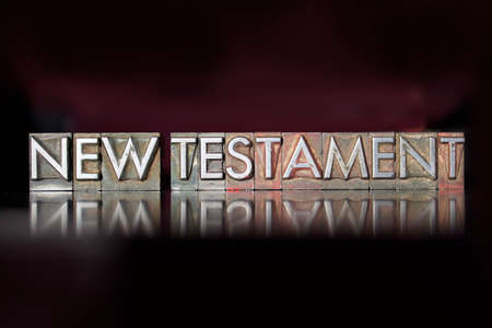 The word New Testament written in vintage letterpress type Reklamní fotografie