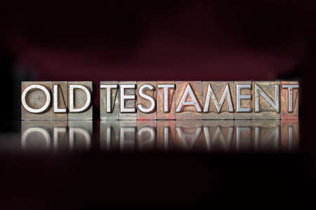 old testament: The words Old Testament written in vintage letterpress type Stock Photo