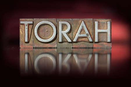 torah: The word Torah written in vintage letterpress type