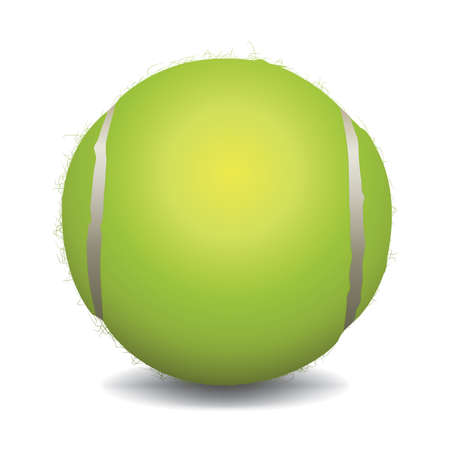 wimbledon: An illustration of a tennis ball isolated on white