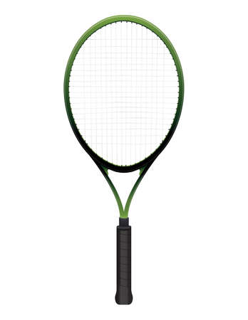 A tennis racquet illustration isolated on white Reklamní fotografie - 31436707