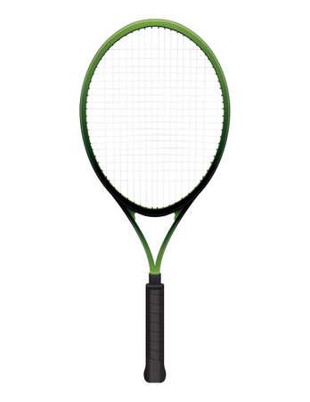 raqueta de tenis: Una ilustración de raqueta de tenis aislada en blanco Vectores