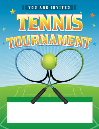 A tennis tournament illustration Vector
