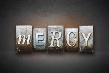 clemency: The word MERCY written in vintage letterpress type