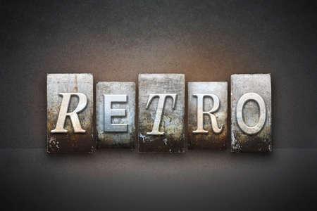 oldschool: The word RETRO written in vintage letterpress type