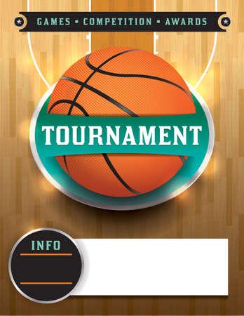 Een basketbal toernooi template illustratie Stock Illustratie