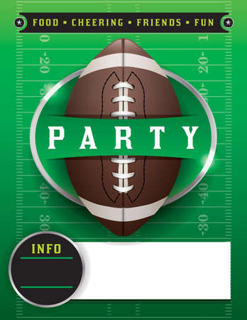 American football party illustration.  Vettoriali