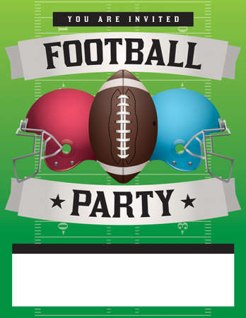 superbowl: American football party illustration.