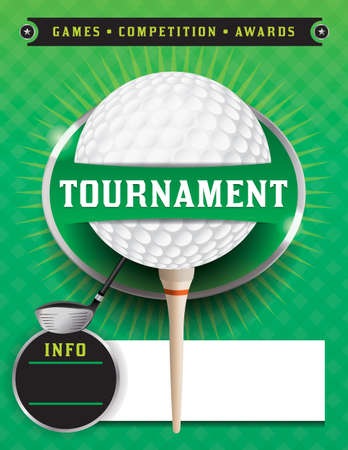 An illustration for a golf tournament. Vector