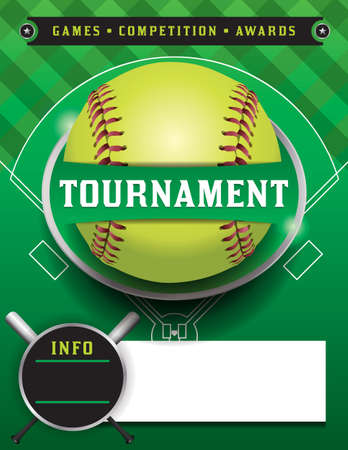 fast pitch: An illustration of a softball tournament.