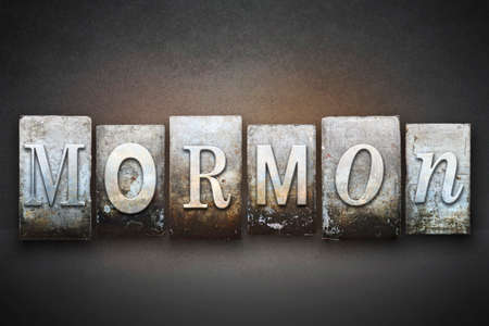 polygamy: The word MORMON written in vintage letterpress type Stock Photo
