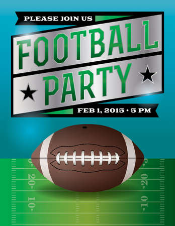 A football party flyer. Vector EPS 10 available. EPS file is layered.