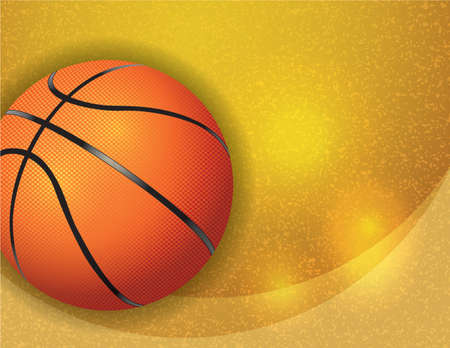 A basketball on a gold textured background. Vector EPS 10 available. EPS file contains transparencies.