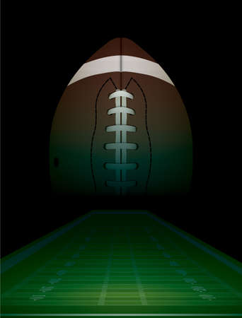 American football en veld achtergrond illustratie. Vector EPS-10 beschikbaar. EPS-bestand bevat transparanten.