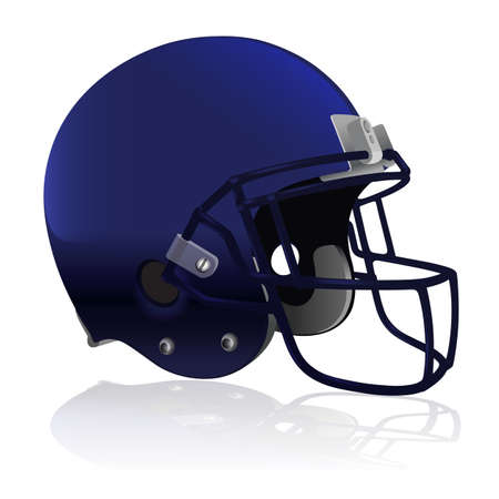 nfl helmet: An American Football helmet isolated on a white background. Vector EPS 10 available. EPS file contains transparencies Illustration