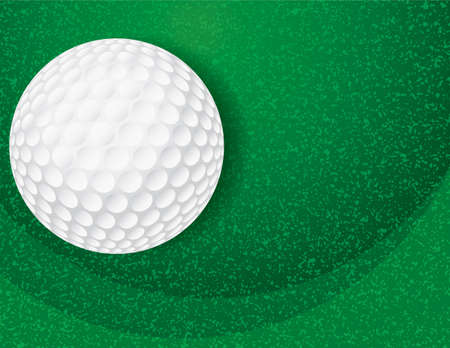 An illustration of a golf ball on a textured background. Vector EPS 10 available. EPS file contains transparencies.
