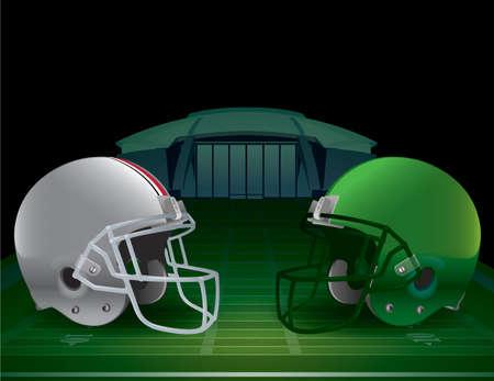sideline: Una ilustraci�n de un Campeonato de F�tbol Amercan. Vector EPS 10 disponible. Archivo EPS contiene transparencias y malla de degradado.