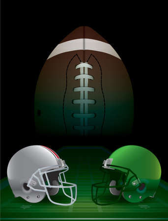 nfl football: American Football college championship. Vector EPS 10 available. EPS file contains transparencies and a gradient mesh.