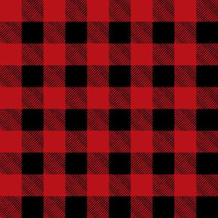 Una ilustración modelo franela en rojo en negro. Patrón puede ser perfectamente de azulejos. Vector EPS 10 disponible. Ilustración de vector