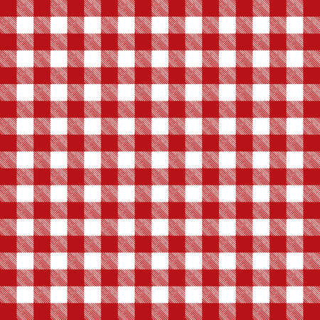 picnic cloth: A red pattern checkered tablecloth illustration. Vector EPS 10 available.