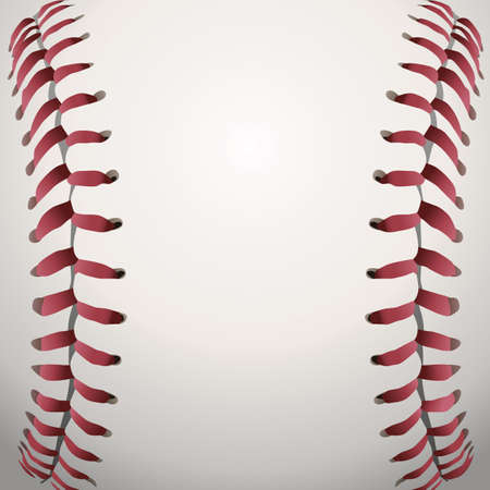 Eine Nahaufnahme Hintergrund Illustration der Baseball-Schnürsenkel. Illustration