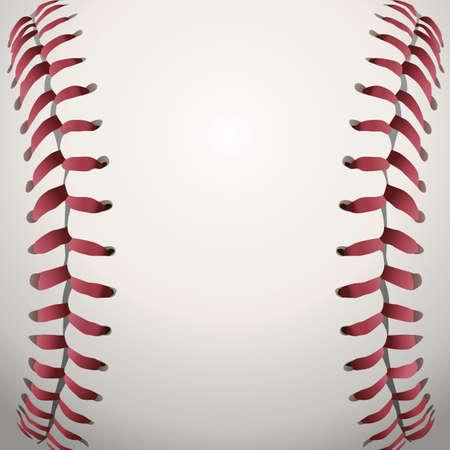 pelota de beisbol: Una ilustraci�n de fondo de cerca de cordones de b�isbol. Vectores