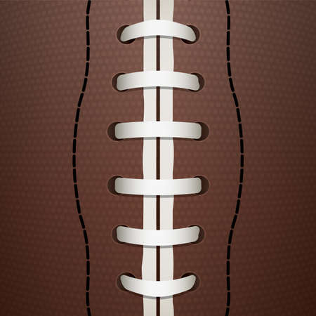 A closeup illustration of an American Football.