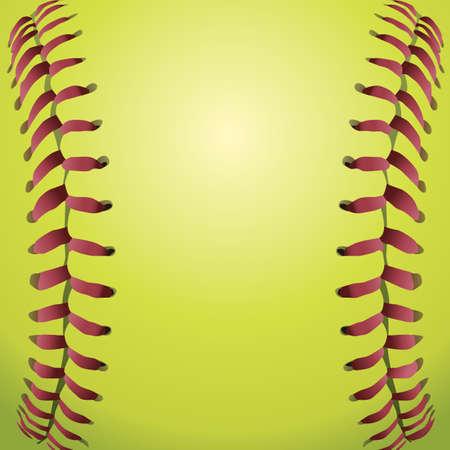 ソフトボールひものクローズ アップの背景イラスト。