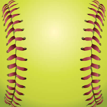 fastball: A closeup background illustration of softball laces. Illustration