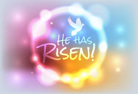 church service: An illustration for Easter Jesus has risen theme. EPS contains transparencies and a gradient mesh.