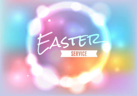 An illustration for Easter Service.available.file contains transparencies and a gradient mesh.