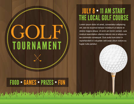 ゴルフ トーナメントのイラスト。