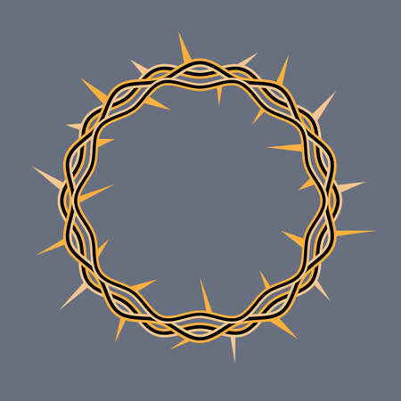 jesus christ crown of thorns: An illustration of a crown of thorns adorned by Jesus Christ at his crucifixion. Vector EPS 10 available.