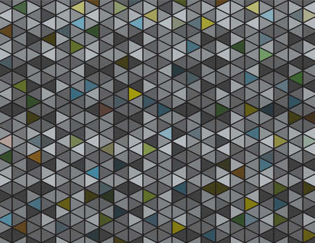 An abstract pattern illustration of dark grey and muted colors background.  Çizim