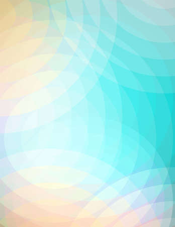 An abstract background illustration of soft overlapping circles of turquoise blue, peach, and pink.  Çizim