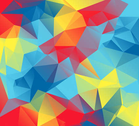 autism: An abstract colorful background of red, yellow, orange, and blue triangles. These are autism awareness colors.  Illustration