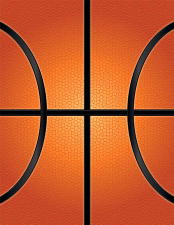 An illustration of an orange basketball textured background. Room for copy.
