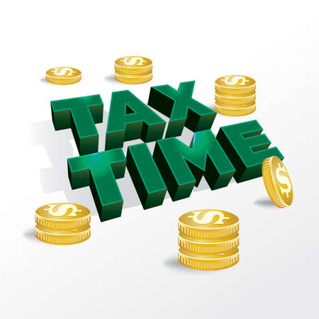 tax time: An illustration concept for income tax return or tax time.