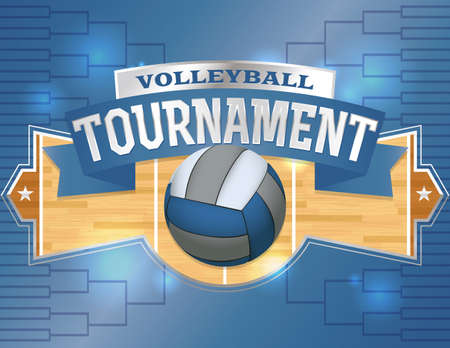 tournament bracket: An illustration for a volleyball tournament flyer or poster. Room for copy. Vector EPS 10 available. EPS contains transparencies and copy has been converted to outlines.