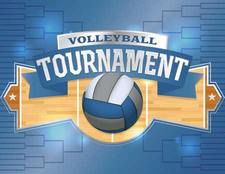 voleibol: Una ilustración de un volante torneo de voleibol o póster. Sitio para la copia. Vector EPS 10 disponible. EPS contiene transparencias y copia se ha convertido en contornos.