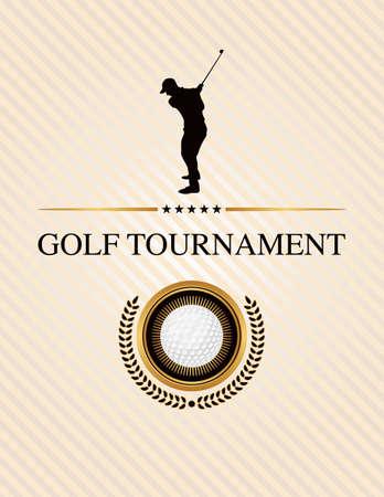 Design-Elemente für ein Golfturnier. EPS 10 zur Verfügung. EPS-Datei geschichtet.