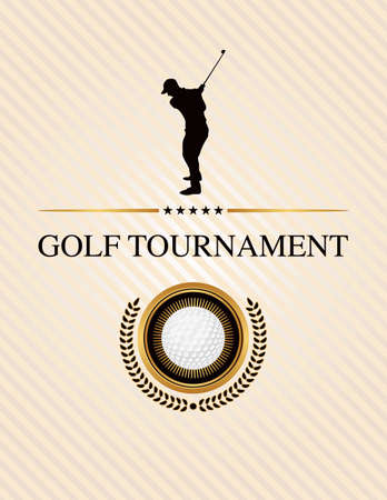 Design elements for a golf tournament. Vector EPS 10 available. EPS file is layered.