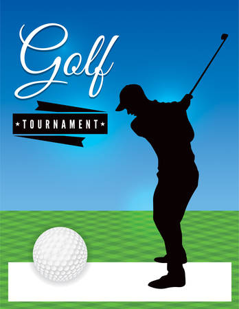 tourney: A template illustration design for a golf tournament. Vector EPS 10 available. EPS file is layered. Illustration