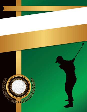 Eine Schablone Illustration für einen Golf themed Ereignis. EPS 10 zur Verfügung. EPS-Datei geschichtet.