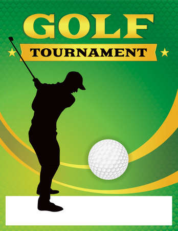 tourney: A golf tournament illustration template. Vector EPS 10 available. EPS file is layered.