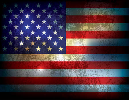 A vintage grunge distressed American Flag illustration background. Vector  available.  file contains transparencies and a gradient mesh. 矢量图像